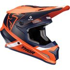 Orange/Navy Sector Split Helmet w/MIPS  - 0110-6231