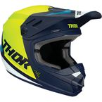 Youth Navy/Acid Sector Blade Helmet - 0111-1251