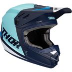 Youth Navy/Blue Sector Blade Helmet - 0111-1254