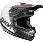 Youth Charcoal/White Sector Blade Helmet - 0111-1257