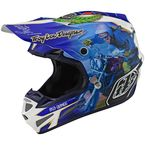 Blue Malcolm Smith SE4 Composite Helmet - 101730004