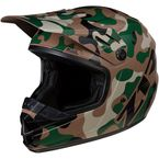 Youth Rise Woodland Camo Helmet - 0111-1260