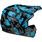 Youth Rise Blue Camo Helmet - 0111-1269