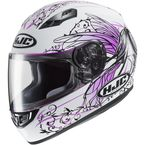 White/Black/Pink CS-R3 Naviya MC-8 Helmet - 148-984