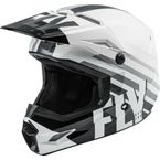 Youth White/Black/Gray Kinetic Thrive Helmet  - 73-3502YL