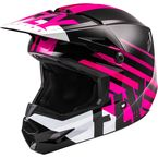 Youth Pink/Black/White Kinetic Thrive Helmet  - 73-3504YL