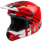 Youth Red/White/Black Kinetic Thrive Helmet  - 73-3506YL