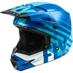 Youth Blue/White Kinetic Thrive Helmet  - 73-3508YL