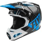 Youth Blue/White/Black Formula Carbon Vector Helmet - 73-4410YL