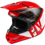 Red/Black/White Kinetic Cold Weather Helmet  - 73-4944L