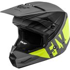 Matte Hi-Vis/Grey/Black Kinetic Cold Weather Helmet  - 73-4945L
