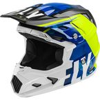Youth Blue/Hi-Vis/White Toxin MIPS Transfer Helmet  - 73-8540YL