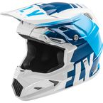 Youth Matte Blue/White Toxin MIPS Transfer Helmet - 73-8543YL