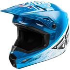 Blue/White/Red Kinetic K120 Helmet  - 73-8621L