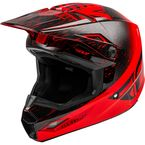 Youth Red\Black Kinetic K120 Helmet  - 73-8622YL