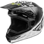 Youth Black/White/Hi-Vis Kinetic K120 Helmet  - 73-8623YL