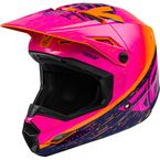 Orange/Pink/Black Kinetic K120 Helmet  - 73-8624L