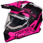 Matte Pink Glo Mode Dual-Sport SV Agent Snow Helmet w/Electric Shield - 35-23886
