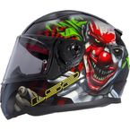 Black/Red/Green/White Rapid Happy Dreams Helmet - 353-1245