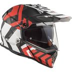 Red/Black/White Pioneer V2 Xtreme Helmet - 436-7041