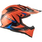Matte Blue/Orange/Black Fast V2 Twoface Helmet - 437-2414
