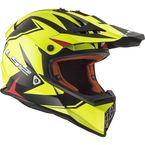 Youth Matte Red/Hi-Viz/Black Fast V2 Twoface Helmet - 437-7084
