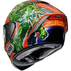Orange/Green/Blue X-Fourteen Power Rush TC-8 Helmet - 0104-2208-06