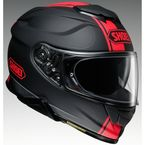 Matte Black/Red GT-Air II Redux TC-1 Helmet - 0119-1001-06