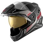 Black/Gray/Red Mission AMS Tracker Snow Helmet w/Electric Shield - 510784#