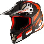 Matte Red/Black/White TX319 Arkos Helmet - 511054#