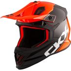 Orange/Black TX319 Metric Helmet - 511834#