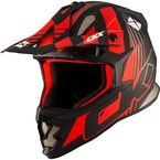 Matte Red/Black TX319 Raider Helmet - 511136#
