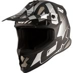 Matte Gray/Black TX319 Raider Helmet - 511151#