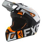 Black/Light Gray/Orange Clutch EVO Helmet - 200609-1105-13