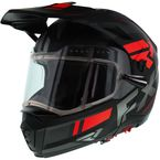 Black/Charcoal/Red Maverick Modular Team Helmet w/Electric Shield - 200624-1020-13