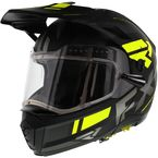 Black/Charcoal/Hi-Vis Maverick Modular Team Helmet w/Electric Shield - 200624-1065-13