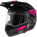 Black/Charcoal/Fuchsia Maverick Modular Team Helmet w/Electric Shield - 200624-1090-13