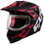 Black/Coral Octane X Deviant Helmet w/Electric Shield - 200620-1093-04