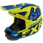 Youth Hi-Vis/Blue/Black 6D ATR-2Y Helmet - 200602-6540-13