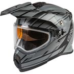 Youth Matte Gray/Black AT21S Epic Helmet w/Dual Lens Shield - 72-7217YL