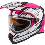 Pink/White/Black AT21S Epic Helmet w/Dual Lens Shield - 72-7213L