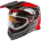Red/Black/Silver AT21S Epic Helmet w/Dual Lens Shield - 72-7211L