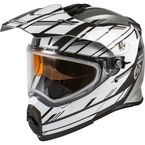 Silver/White/Black AT21S Epic Helmet w/Dual Lens Shield - 72-7216L