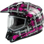 Pink/Black GM11S Pink Ribbon Riders Helmet w/Dual Lens Shield - 72-7149L