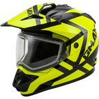 Black/Hi-Vis GM11S Trapper Helmet w/Dual Lens Shield - 72-7155L