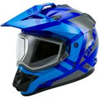 Blue/Gray GM11S Trapper Helmet w/Dual Lens Shield - 72-7152L
