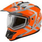 Gray/Orange GM11S Trapper Helmet w/Dual Lens Shield - 72-7158M
