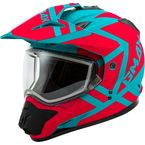 Matte Teal/Orange GM11S Trapper Helmet w/Dual Lens Shield - 72-7153M