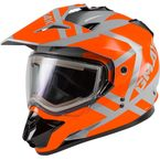 Gray/Orange GM11S Trapper Helmet w/Electric Shield - E72-7158L