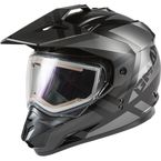Matte Black/Gray GM11S Trapper Helmet w/Electric Shield - E72-7157L